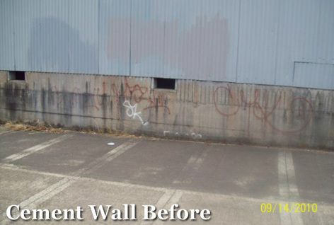 Graffifi Removal Portland_Cement Wall Before