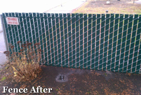Graffifi Removal Portland_Fence After