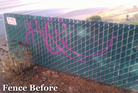 Graffifi Removal Portland_Fence Before