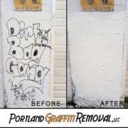Graffiti Removal At Bridge Housing In Portland